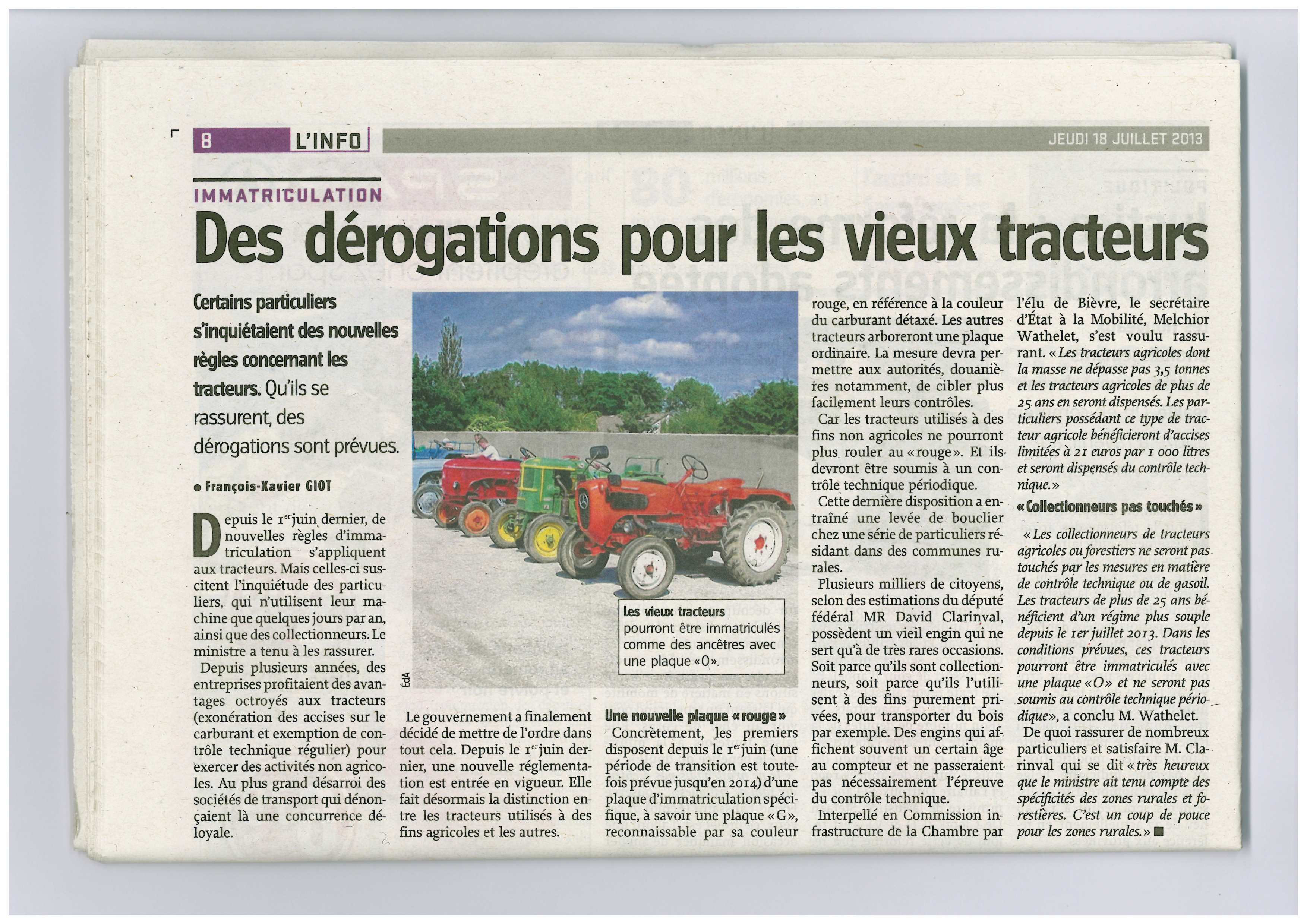 Des obligations assouplies pour les propriétaires de vieux tracteurs utilisés sporadiquement  # Controle Technique Neuville Aux Bois